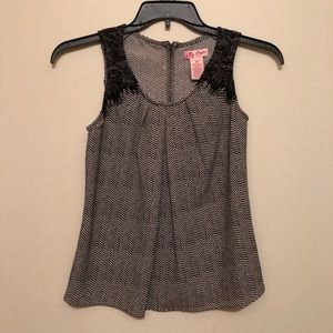 Candie's Herringbone Lace Tank Top